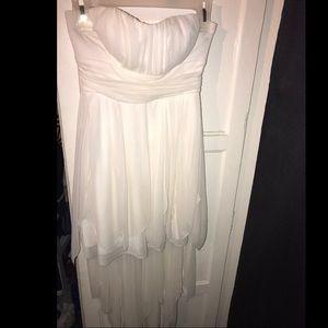 Long white sleeveless white dress